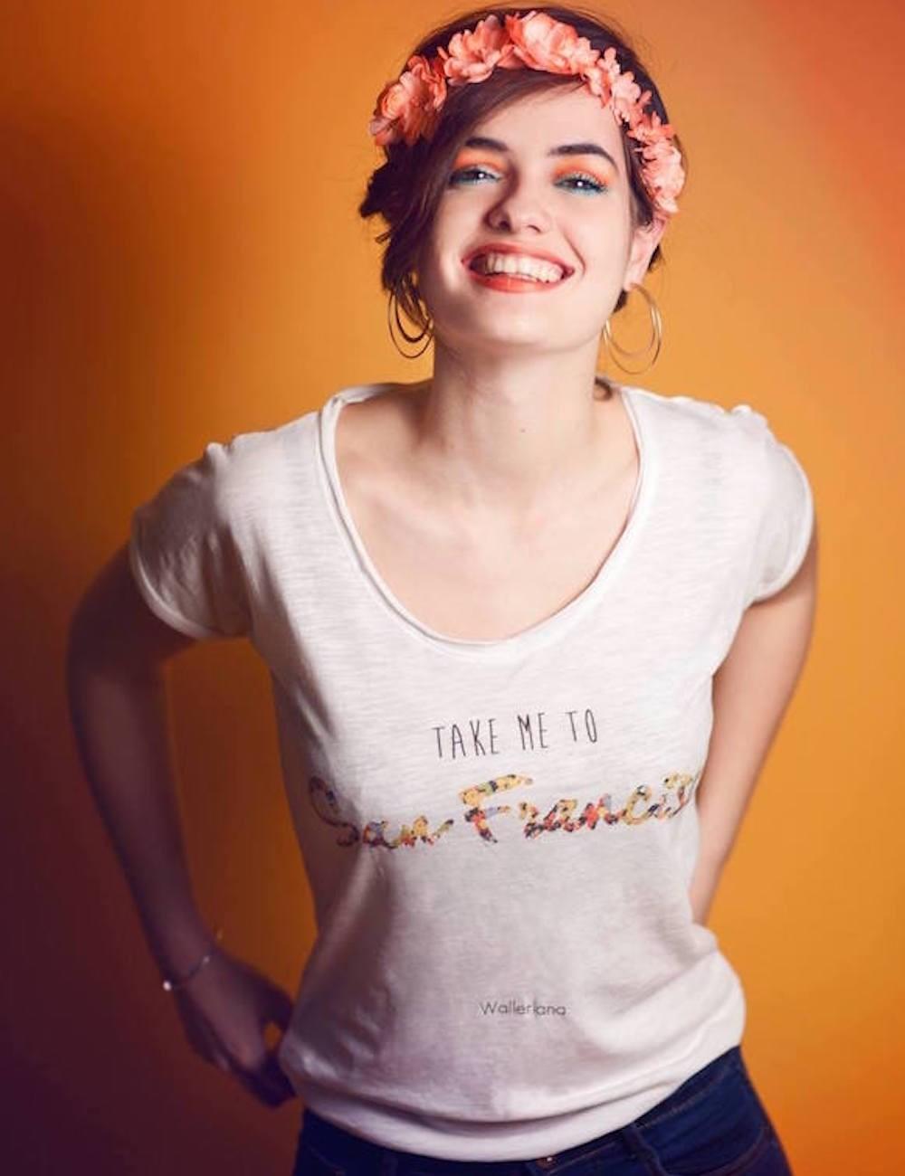 Le t-shirt Walleriana - coton bio, coupe flatteuse, fabriqué en France - modèle San Francisco