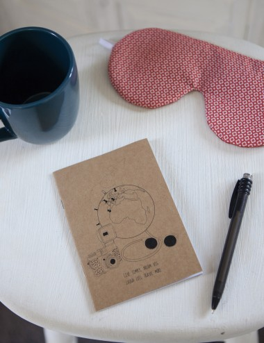Walleriana travel notebook - easy to carry, recycled paper