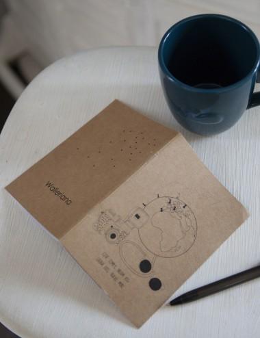 Le carnet de voyage Walleriana - pratique à transporter, papier recyclé