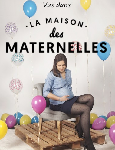 Glamorous compression stay-ups - to stimulate blood circulation with discretion - Seen on the french TV show Les Maternelles