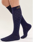 Solidea Bamboo compression socks - easy to put on, comfortable, soft, marine blue