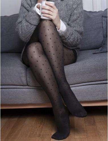 Light legs tights - glamorous, soft, comfortable, little square pattern