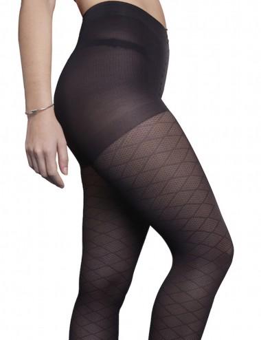 Light legs tights - glamorous, soft, comfortable, diamond pattern