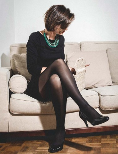 Essential tights - plain black, improve blood & lymphatic circulation