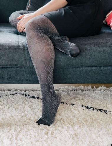 Le collant à paillettes Aphrodite by Solidea - jambes fatiguées, insuffisance veineuse