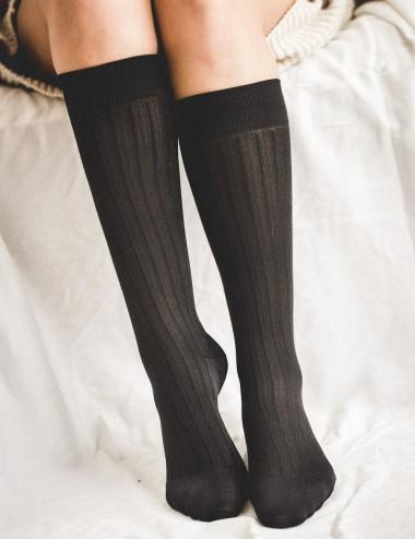 Les chaussettes unisexes - jambes fatiguées, lourdes ou gonflées, Take me to New-York noires