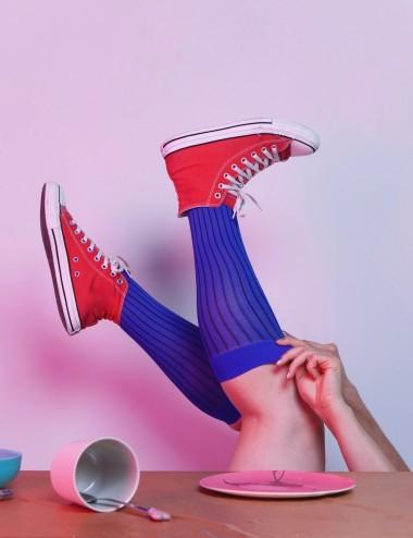 Les chaussettes unisexes - jambes fatiguées, lourdes ou gonflées, Take me to Saint Barth bleu azur