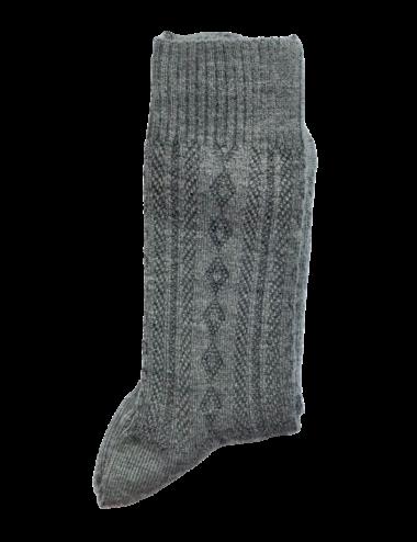 Les chaussettes parfaites - non comprimantes, sans élastique, thermorégulatrices, chaussettes  en laine peignée Skye grises