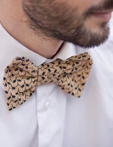 Unisex bowtie Le Palois - upcycled, responsible, designed and made in France