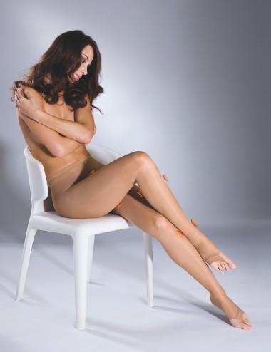 Le collant essentiel orteils libres by Solidea - stimule la circulation veineuse en été, anti jambes lourdes
