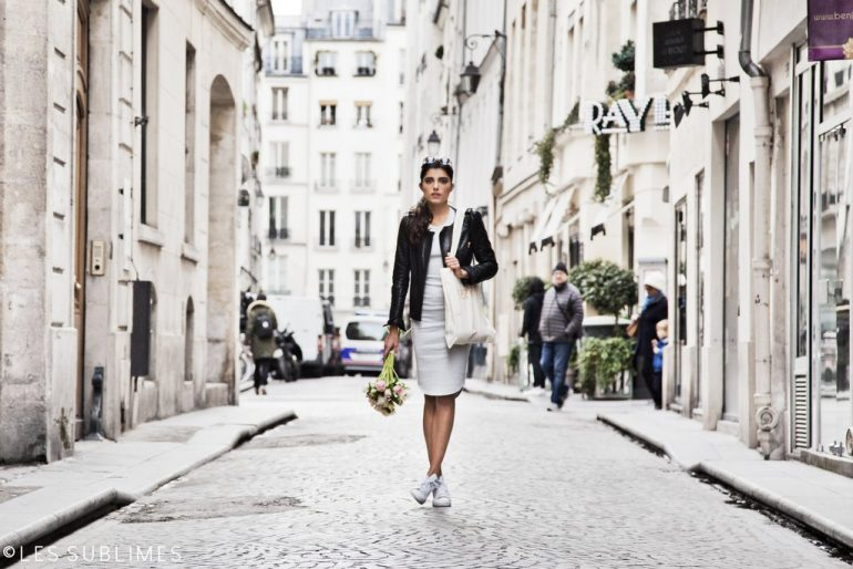 Les Sublimes Spring 16 Collection London Dress Streets of Paris with Flowers